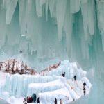大雪国立公園層雲峡の黒岳ロープウェイと層雲峡氷瀑まつり