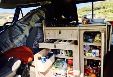 キャンピングカーの収納スペース