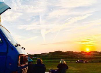 ヒレンドキャンプ場からの夕陽
