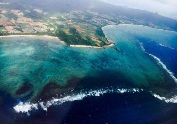 与那国島と波