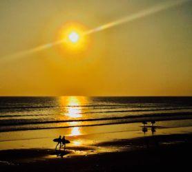 ロッシリビーチの夕刻