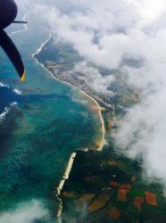 与那国島の雲と海