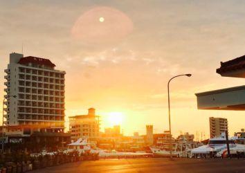 早朝の石垣離島ターミナル