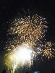 阿寒湖の花火