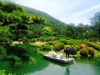 栗林公園と船