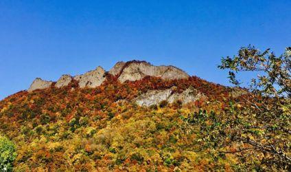 秋の定山渓八剣山