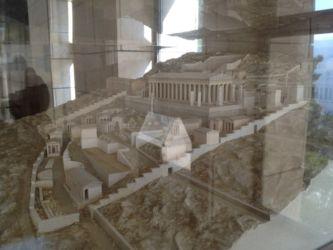 デルフィ遺跡の模型