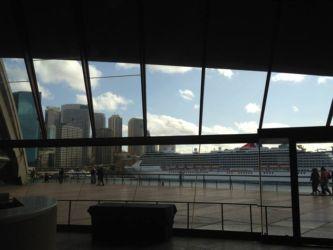 オペラハウスの中からの眺め