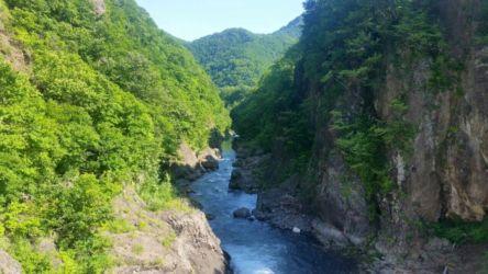 豊平川の渓谷美