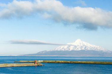 礼文島からの利尻山