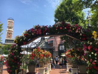 白い恋人パークの中庭