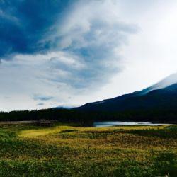遊歩道から見る知床連山