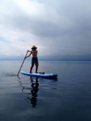 SUP支笏湖で