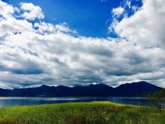 チュウルイ島からの阿寒湖