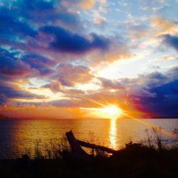 サロマ湖の夕刻