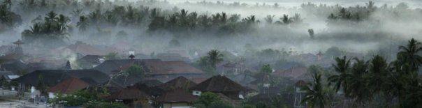 バリの朝靄